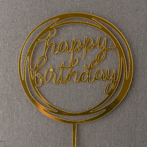 Greeting Card in a Decorated Circular Shape