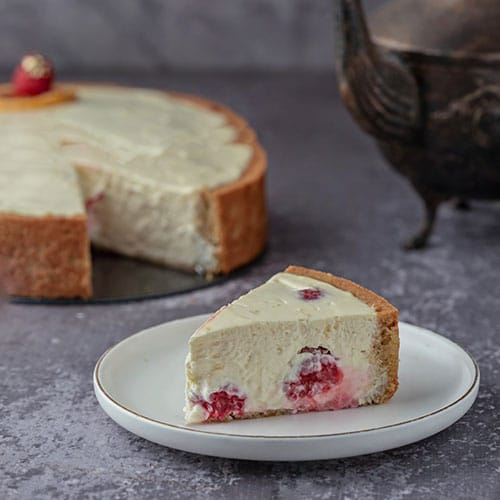 berry lemon cheesecake
